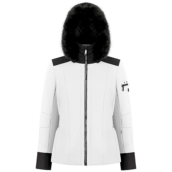 Poivre Blanc Stretch Womens Insulated Ski Jacket, White, 600