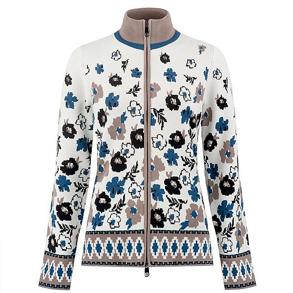 Poivre Blanc Floral Knit Womens Jacket, Garden White, 600