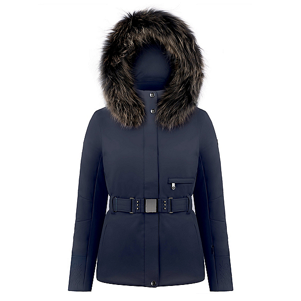 Poivre Blanc Belted Stretch Womens Insulated Ski Jacket, , 600