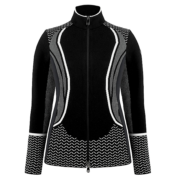Poivre Blanc Hybrid Knit Womens Jacket, Multicoblack, 600
