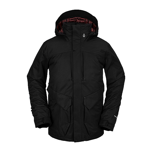 Volcom Anders 2L TDS Mens Insulated Snowboard Jacket, Black, 600