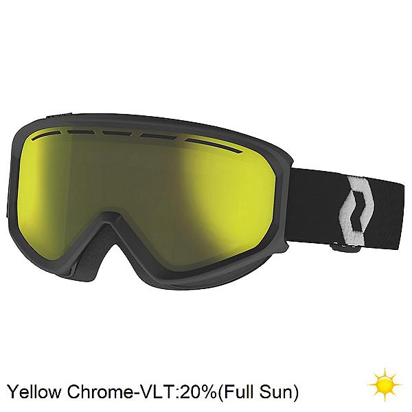 Scott Fact Chrome Goggles, Black-White-Enhancer Yellow Chrome, 600