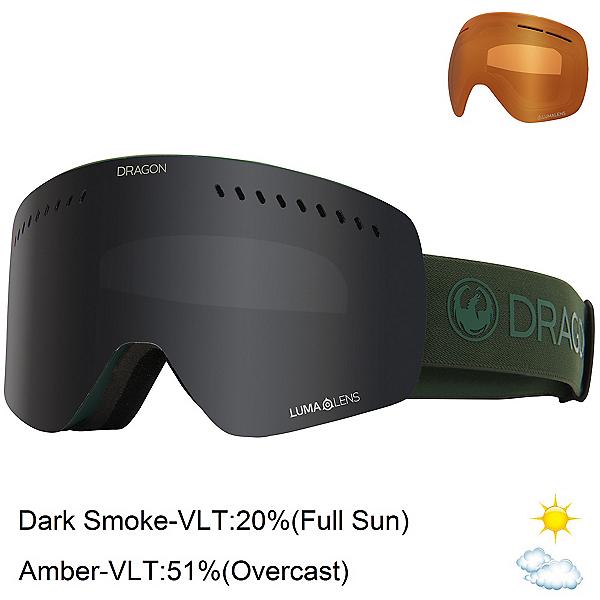 Dragon NFXs Goggles, Foliage-Lumalens Smoke + Bonus Lens, 600