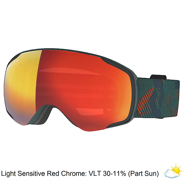 Scott Vapor LS Goggles, Sombre Green-Pumpkin Orange-Light Sensitive Red Ch, 600