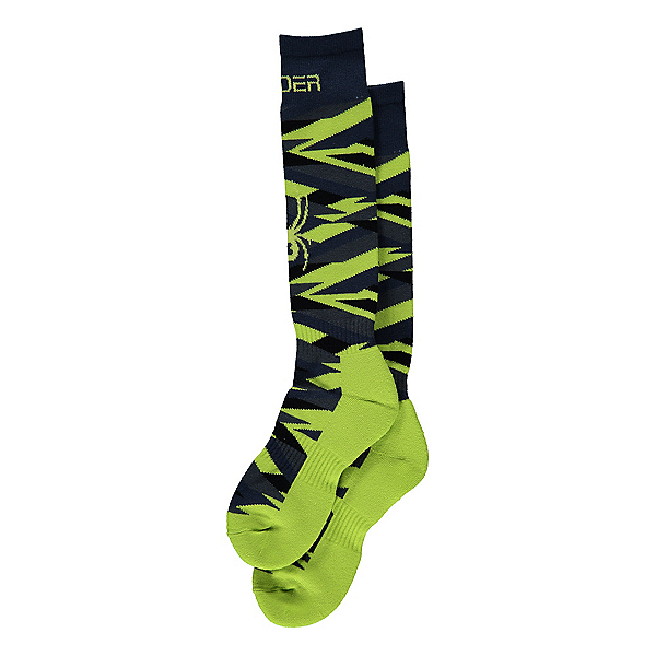 Spyder Peak Kids Ski Socks, Sharp Lime, 600