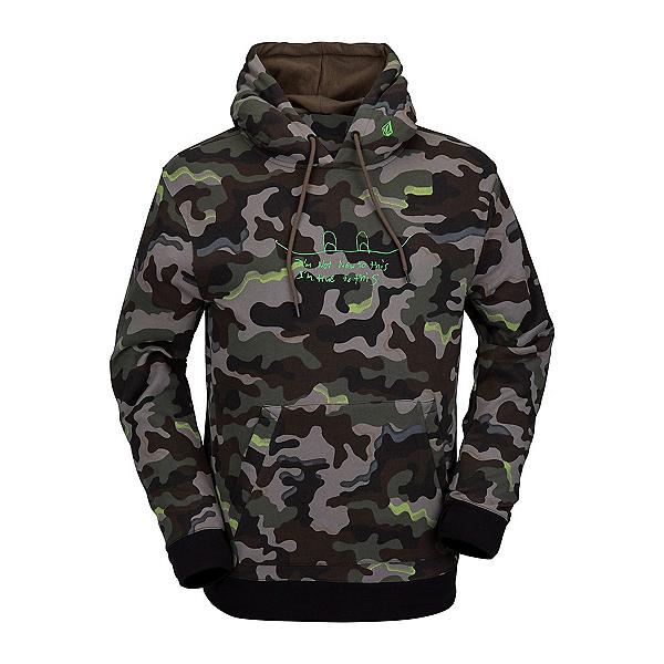 Volcom JLA Pullover Fleece Mens Hoodie, Army, 600
