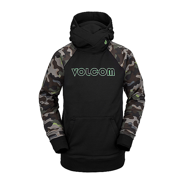 Volcom Hydro Riding Mens Hoodie, Army, 600