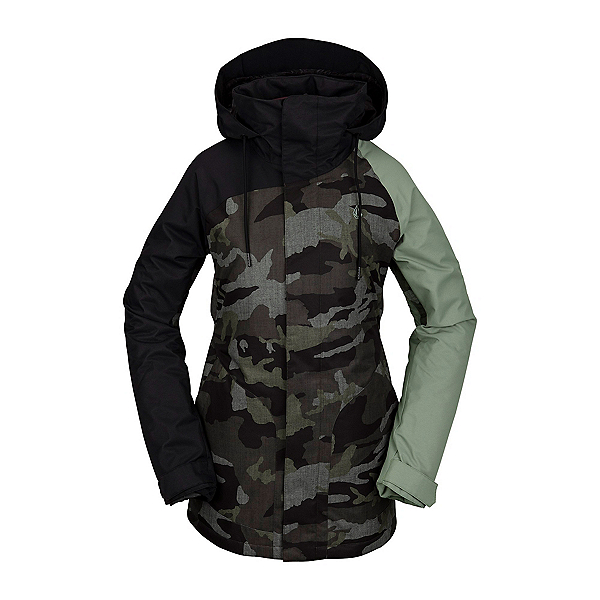 Volcom Westland Womens Insulated Snowboard Jacket, Service Green, 600