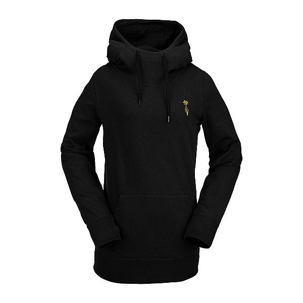 Volcom Costus Pullover Fleece Womens Hoodie, Black, 600