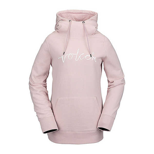 Volcom Costus Pullover Fleece Womens Hoodie, Faded Pink, 600