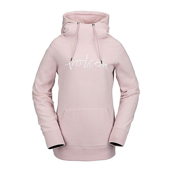 Volcom Costus Pullover Fleece Womens Hoodie, Faded Pink, 600