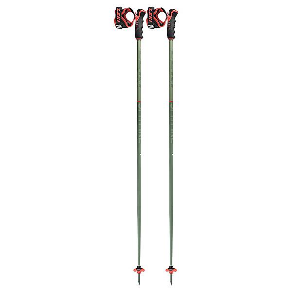 Leki Leki Spitfire 3D Ski Poles Ski Poles, Olive-Red, 600