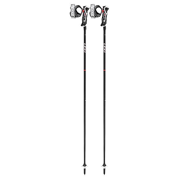 Leki Leki Carbon 14 3D Ski Poles, Black-Red, 600