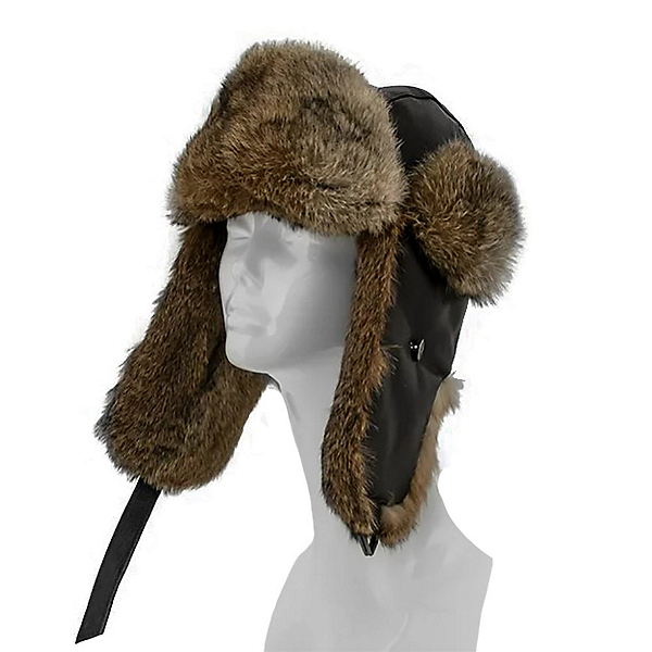 Mitchies Matchings  Womens Hat, Brown Leather Goma Rabbit, 600
