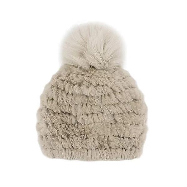 Mitchies Matchings  Womens Hat, Beige Rosebeige Fox Pom, 600