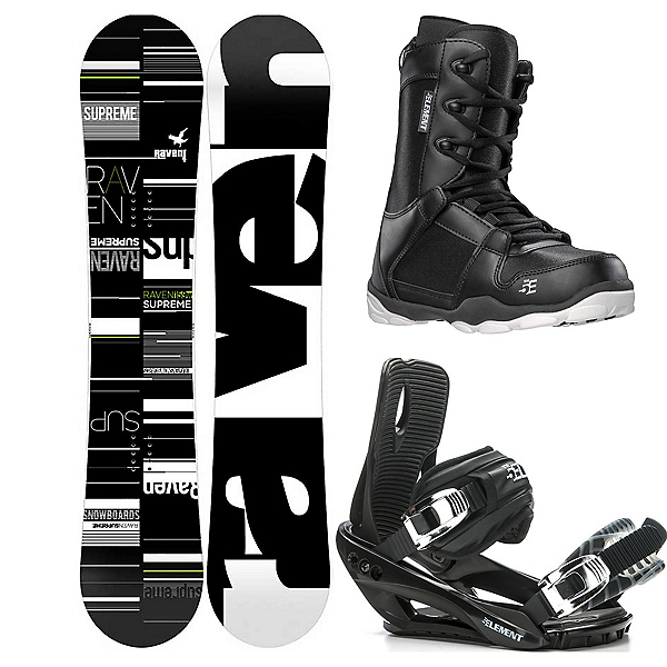 Raven Supreme Wide Complete Snowboard Package 2020, , 600
