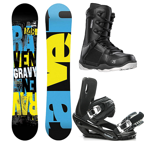 Raven Gravy Wide Complete Snowboard Package 2019, , 600