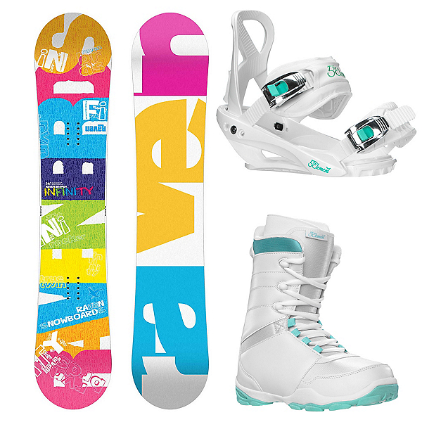 Raven Infinity Complete Womens Snowboard Package 2015, , 600