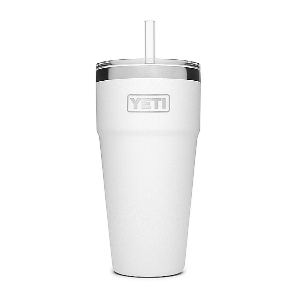 YETI Rambler 26 oz with Straw Lid, White, 600