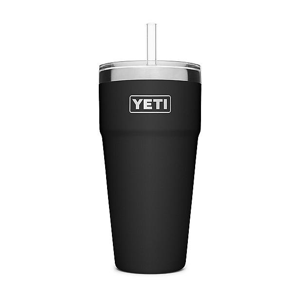 YETI Rambler 26 oz with Straw Lid, Black, 600