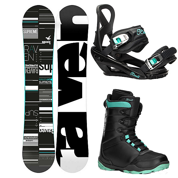 Raven Supreme Complete Womens Snowboard Package 2019, , 600