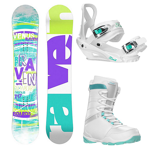Raven Venus Complete Womens Snowboard Package 2016, , 600