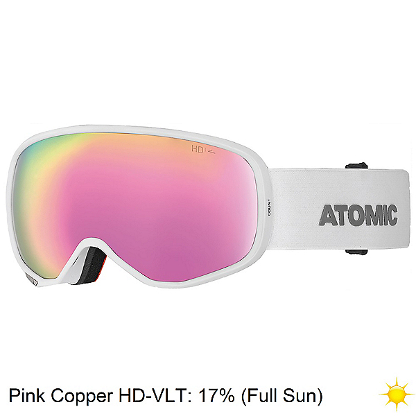 Atomic Count S HD Womens Goggles 2020, White-Pink Copper Hd, 600