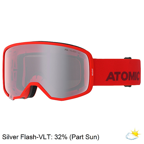 Atomic Revent Goggles 2020, Red-Silver Flash, 600