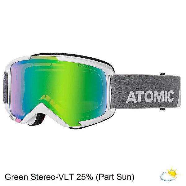 Atomic Savor Stereo Goggles 2020, White-Green Stereo, 600