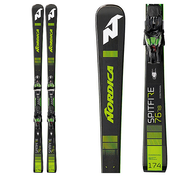Nordica Dobermann Spitfire 76 RB Skis with XCell 12 FDT Bindings, , 600