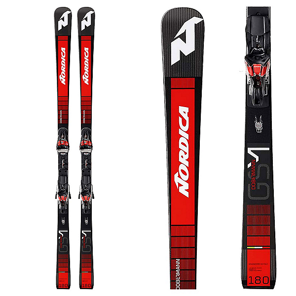 Nordica Dobermann GSM RB Piston Race Skis with XCell 14 GW Bindings 2020, , 600