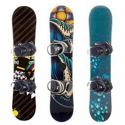 Used Basic Boy's Snowboard and Binding Package Snowboard, , 256