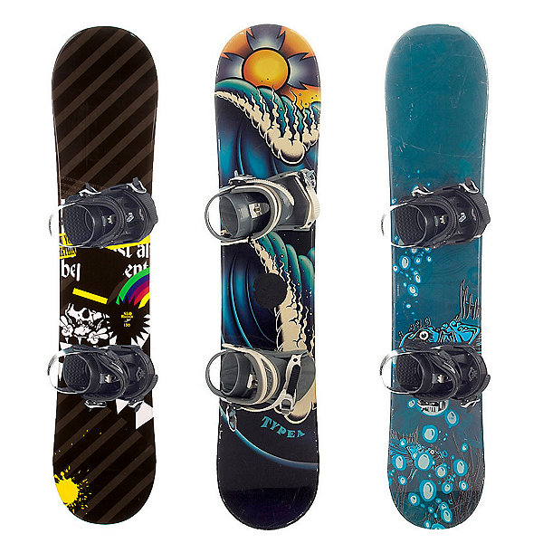 Used Basic Boy's Snowboard and Binding Package Snowboard, , 600