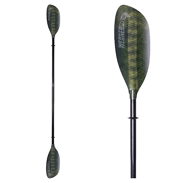 Werner Paddles Shuna Hooked 2PC LeverLock Kayak Paddle, Bass Green, 600