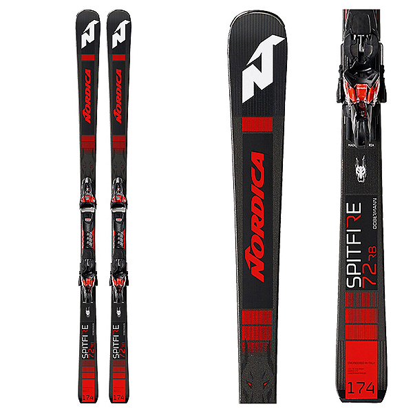 Nordica Dobermann Spitfire 72 RB Skis with XCell 12 FDT Bindings, , 600