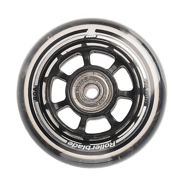 Rollerblade Wheel Kit 76mm/80A Inline Skate Wheels with SG5 Bearings - 8 Pack, , 600