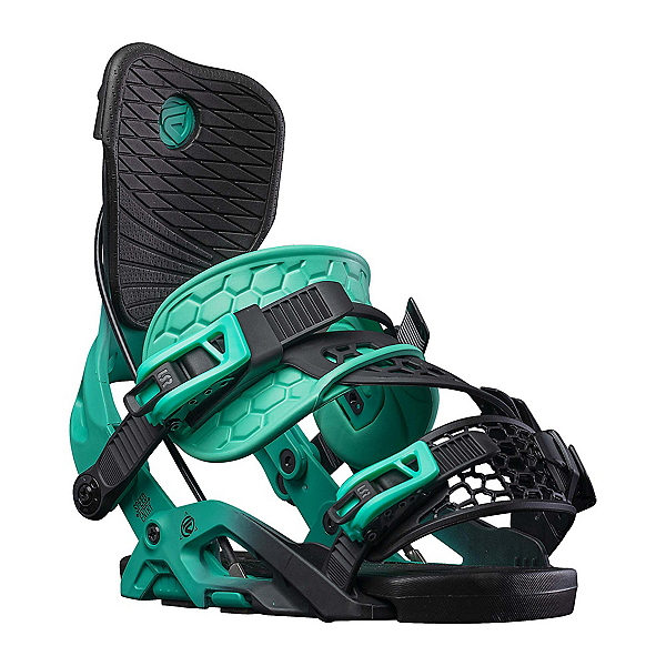 Flow Omni Hybrid Womens Snowboard Bindings, Aqua, 600
