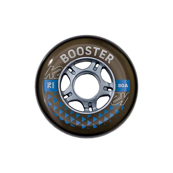K2 K2 Booster 76mm/80A - 8 Pack Inline Skate Wheels with ILQ 5 Bearings, , 600