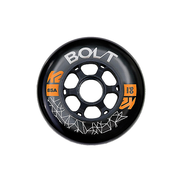 K2 Bolt Urban 90mm/85A - 8 Pack Inline Skate Wheels with ILQ 9 Bearings, , 600