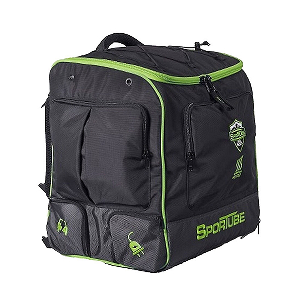 Sportube Toaster Elite Heated Boot Bag, Black-Green, 600