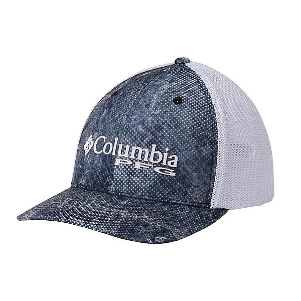 Columbia PFG Camo Mesh Hat, Black Real Tree Mako, 600