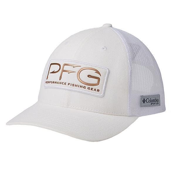 Columbia PFG Mesh Womens Hat, White-Pfg Hooks, 600