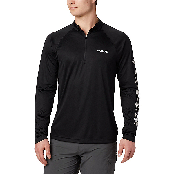 Columbia Terminal Tackle 1/4 Zip Mens Shirt, Black-Cool Grey, 600