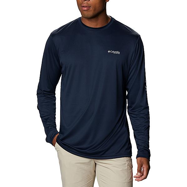 Columbia Terminal Tackle PFG Destination Long Sleeve Mens Shirt, Collegiate Navy-Great Lakes, 600