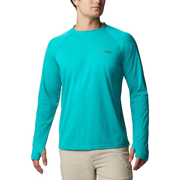 Columbia PFG Zero Rules Ice Long Sleeve Mens Shirt, Tropic Water, 600