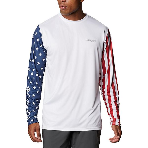 Columbia Terminal Tackle PFG Americana Long Sleeve Mens Shirt, , 600
