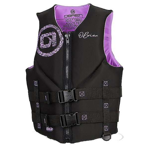 O'Brien Traditional Womens Life Vest, Black-Purple, 600