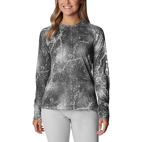 Columbia Super Tidal Tee Long Sleeve Womens Shirt, Black Realtree Mako, 600