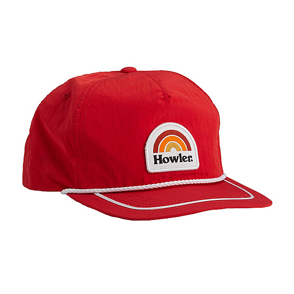 Howler Brothers Unstructured Snapback Hat, Howler Rainbow Scarlet, 600