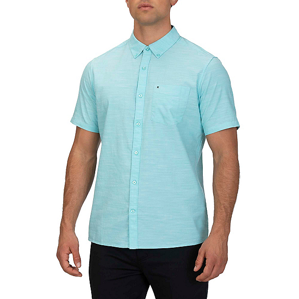 Hurley One and Only 2.0 Mens Shirt, Aurora Green, 600